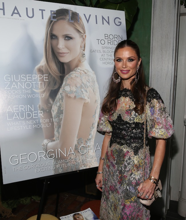 NEW YORK, NY - SEPTEMBER 27: Georgina Chapman attends the Haute Living Celebrates Georgina Chapman with Perrier-Jouet and JetSmarter event at Socialista New York on September 27, 2016 in New York City. (Photo by Rob Kim/Getty Images for Haute Living)