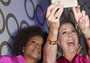 Comedian Wanda Sykes and actress Rita Wilson