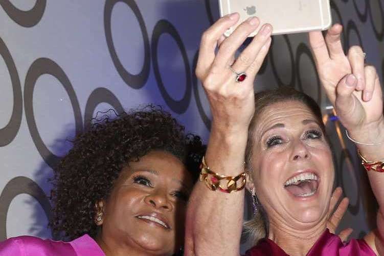 Comedian Wanda Sykes and actress Rita Wilson
