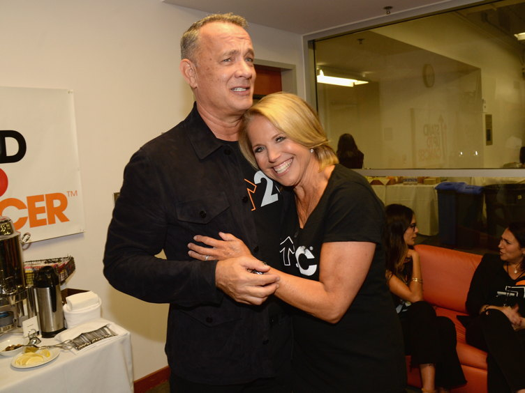 Stand Up To Cancer Co-founder Katie Couric and Tom Hanks