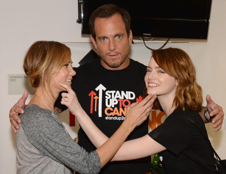Kristen Wiig, Will Arnett and Emma Stone