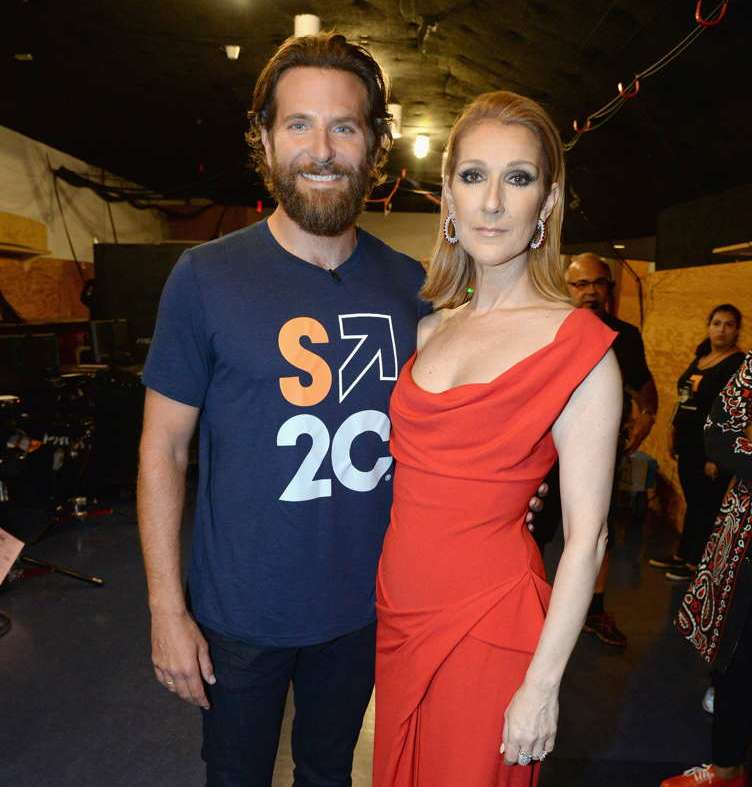 Bradley Cooper and singer Celine Dion attend Stand Up To Cancer (SU2C), a program of the Entertainment Industry Foundation (EIF), staging its fifth biennial fundraising telecast at the Walt Disney Concert Hall