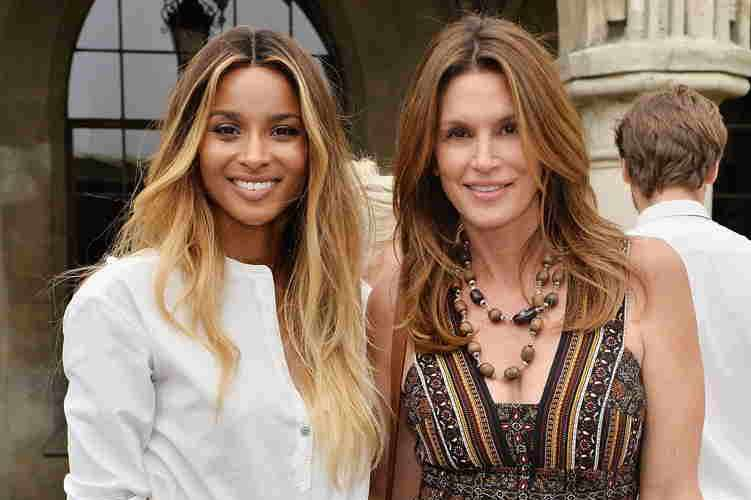 Ciara and Cindy Crawford celebrate ground-breaking achievements in cancer research at RevlonÕs Annual Philanthropic Luncheon at the Chateau Marmont