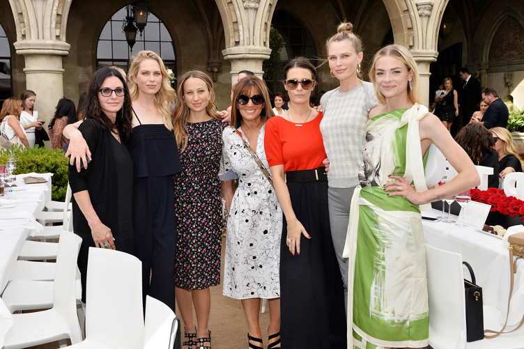 (L-R) Courteney Cox, Erin Foster, Jennifer Meyer, Shelli Azoff, Cassandra Grey, Erin Foster and Jaime King attends Revlon's Annual Philanthropic Luncheon in support of the Revlon Women's Heath Mission and to honor the achievements of Dr. Dennis Slamon at Chateau Marmont