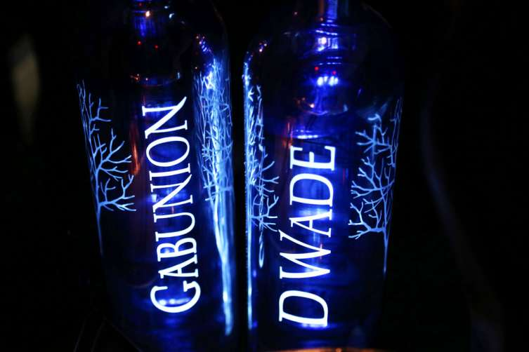 Custom bottles of Belvedere