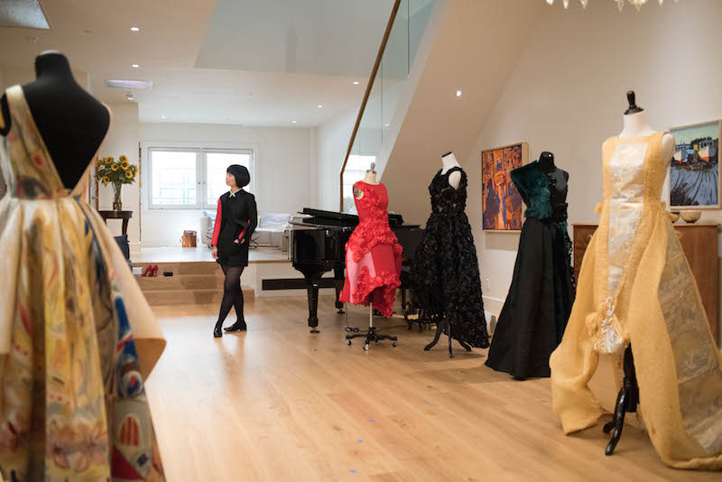 Tokyo Gamine's designer Yuka Uehara stands in the middle of her showroom