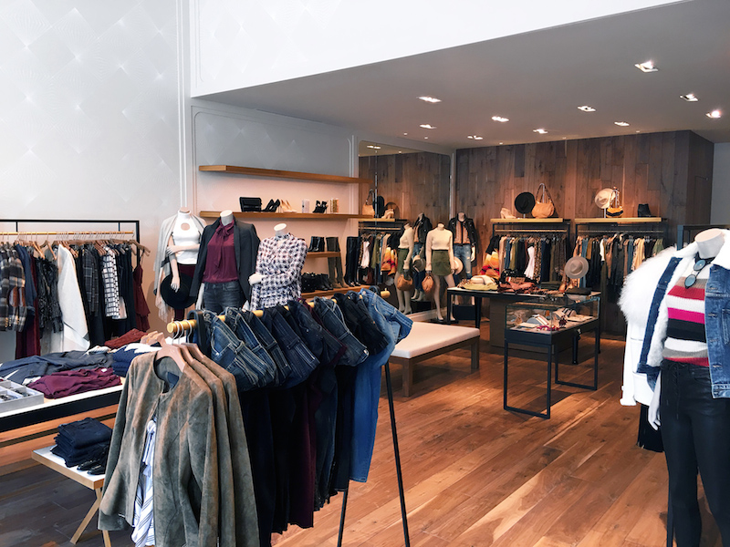 Inside the new Intermix on Fillmore Street