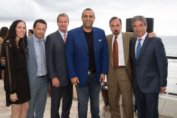Guests with Sam Nazarian, Jorge Perez and Carlos Rosso
