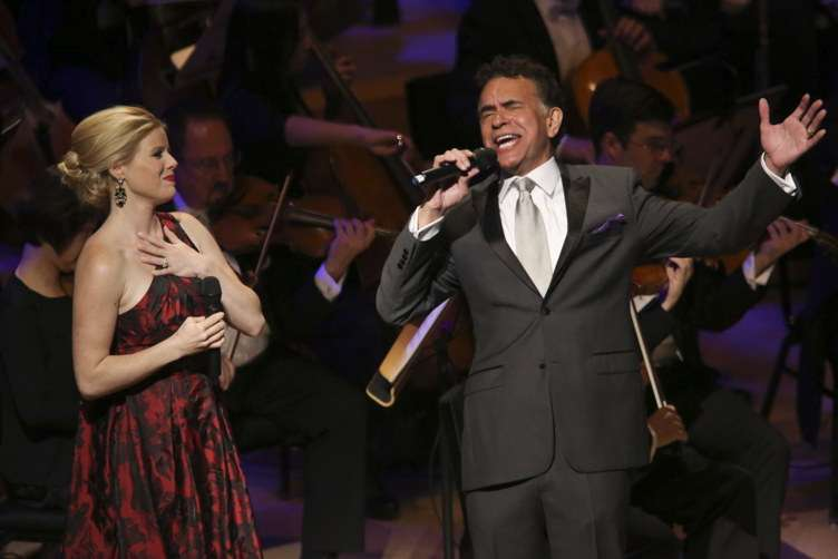 Megan Hilty and Brian Stokes Mitchell