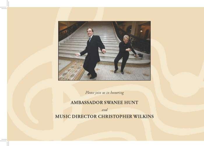 Ambassador Swanee Hunt and Christopher Wilkins