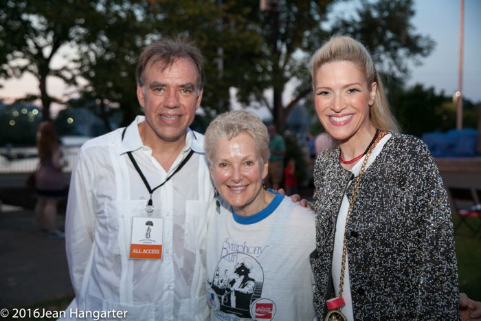 Music Director Christopher Wilkins, Ambassador Swanee Hunt, and Sonia Tita Puopolo