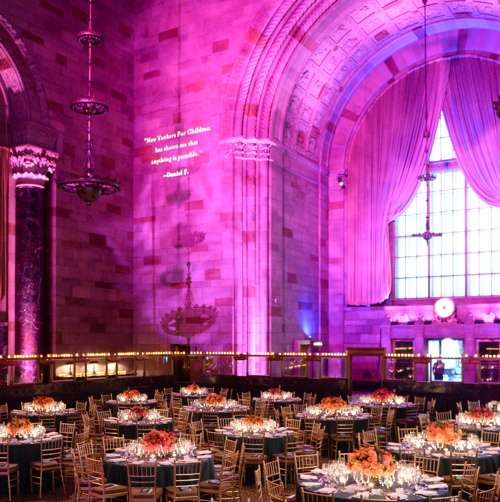 The decor for the gala held at Cipriani 42nd Street
