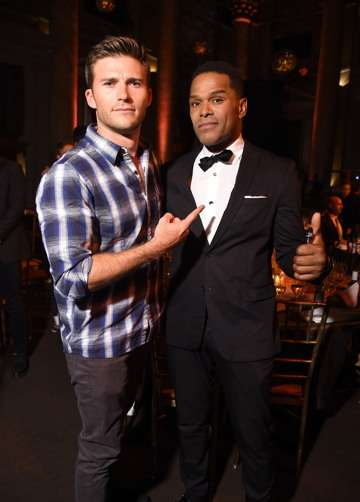 Scott Eastwood and Maxwell at UNITAS gala (Photo by Michael Loccisano/Getty Images for UNITAS)