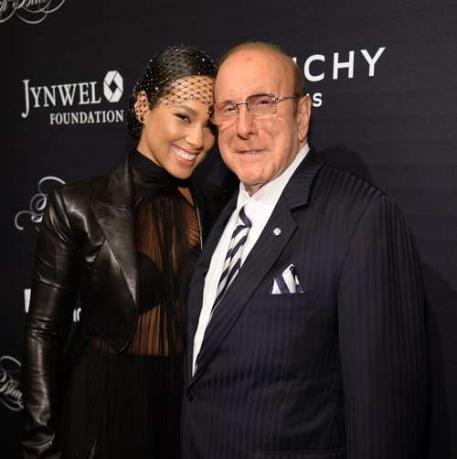 NEW YORK, NY - NOVEMBER 05: Alicia Keys and Clive Davis attend Keep A Child Alive's 12th Annual Black Ball at Hammerstein Ballroom on November 5, 2015 in New York City. (Photo by Kevin Mazur/Getty Images for KCA) *** Local Caption *** Alicia Keys; Clive Davis