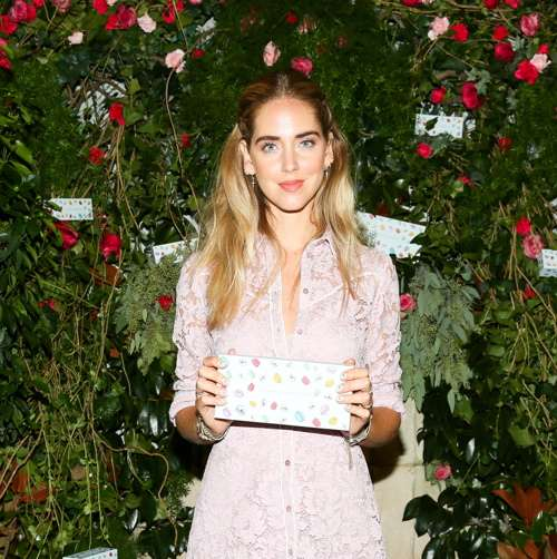Ferragni and her new creation.