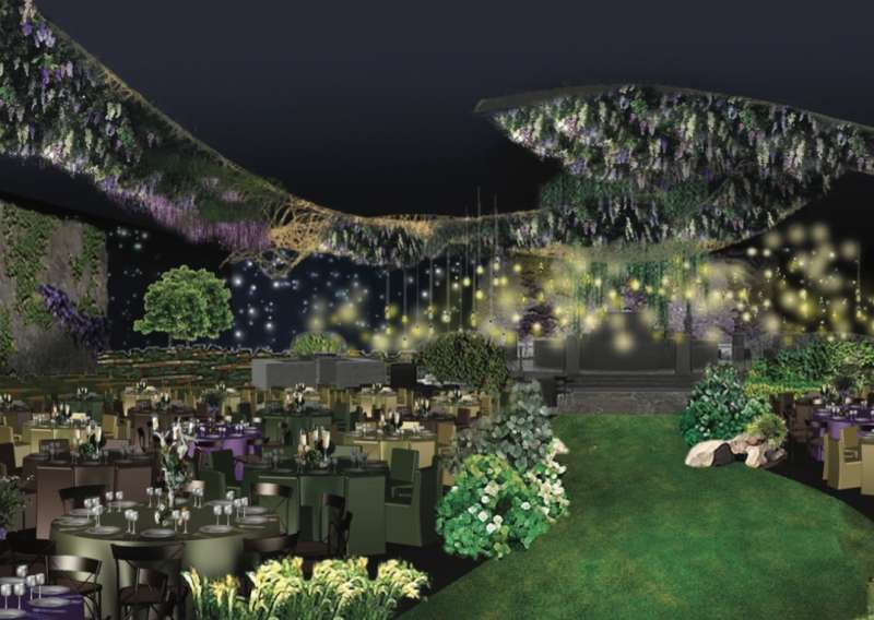 Nature's Elegance: A rendering of the 2016 Emmys Governor's Ball