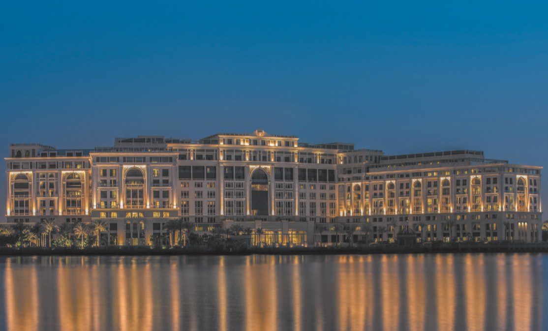 The exterior of the uber-opulent Palazzo Versace Dubai