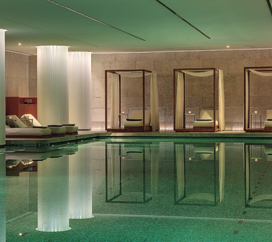 Bulgari Hotel's stunning oasis-like pool
