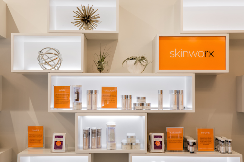 Products on display at Skinworx