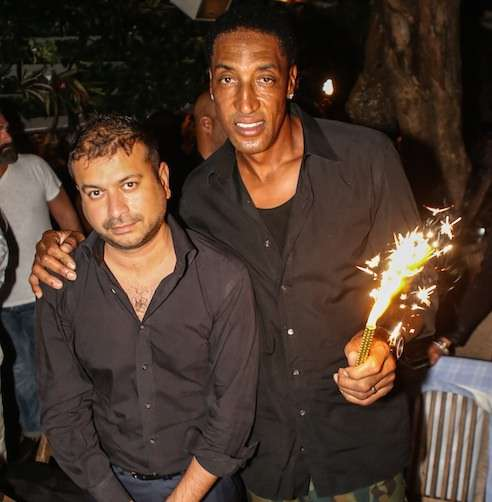 Kamal Hotchandani and Scottie Pippen