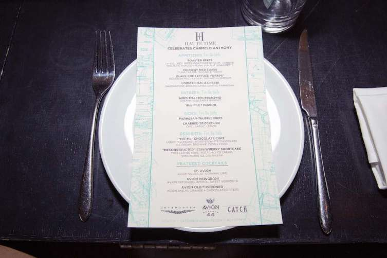 Catch Dinner menu