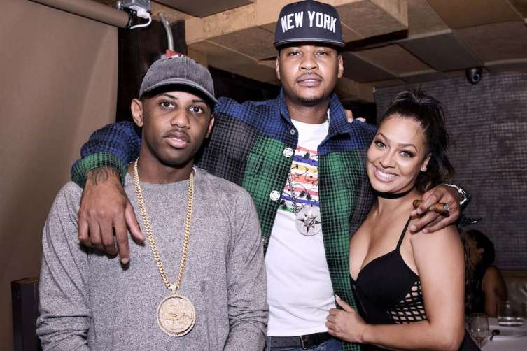 Fabolous, Carmelo Anthony and Lala Anthony