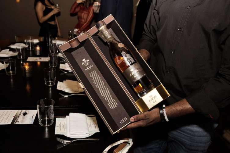 Carmelo Anthony engraved avion bottle