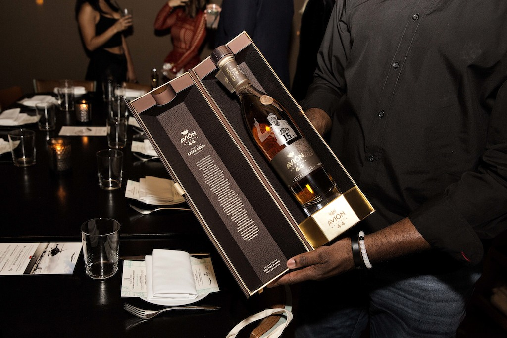 Carmelo Anthony engraved avion bottle