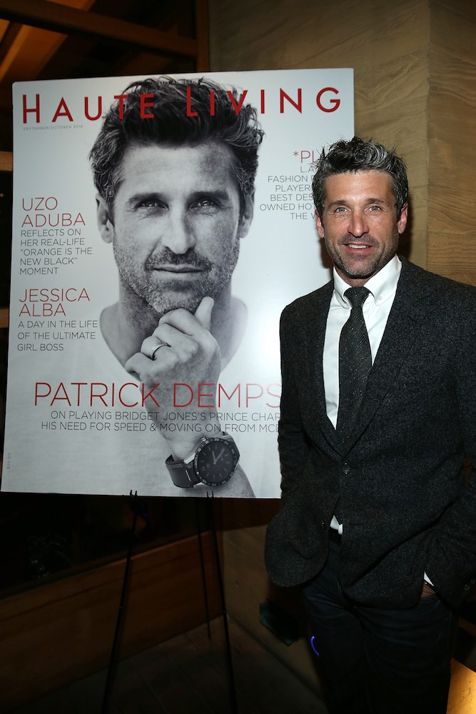 MALIBU, CA - SEPTEMBER 20: Patrick Dempsey attends the Haute Living Cover Launch With Patrick Dempsey And Tag Heuer At Nobu Malibu at Nobu Malibu on September 20, 2016 in Malibu, California. (Photo by Jonathan Leibson/Getty Images for Haute Living)