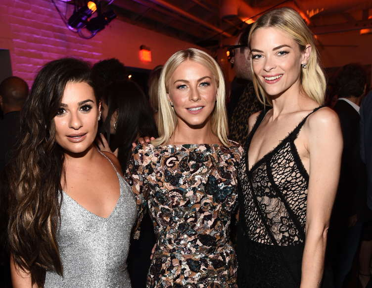 Lea Michele, Julianne Hough and Jaime King attend the BMW-presented Women in Film Emmy Nominee Celebration
