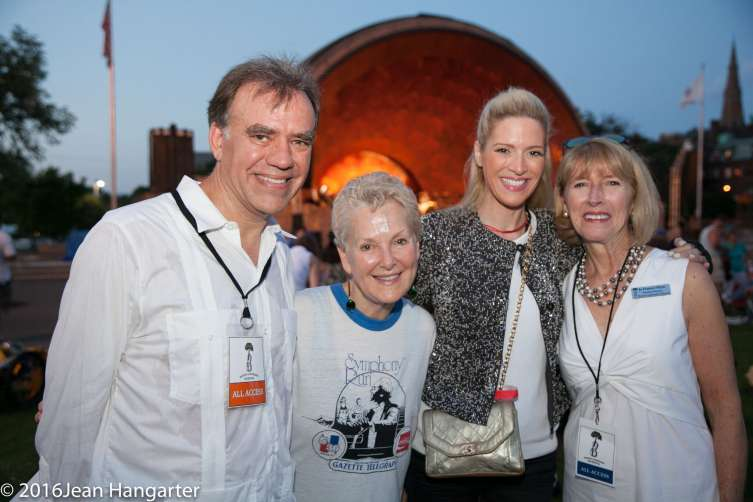 Music Director Christopher Wilkins, Ambassador Swanee Hunt and Sonia Tita Puopolo and Executive Director Jo Frances Meyer
