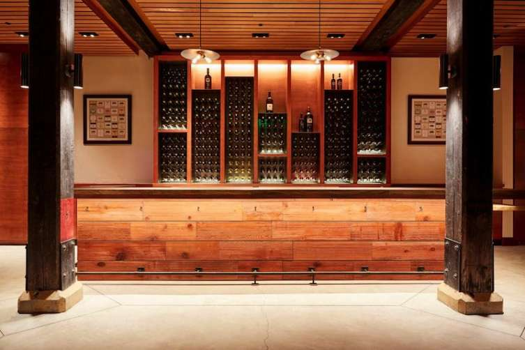 The library tasting room at Freemark Abbey