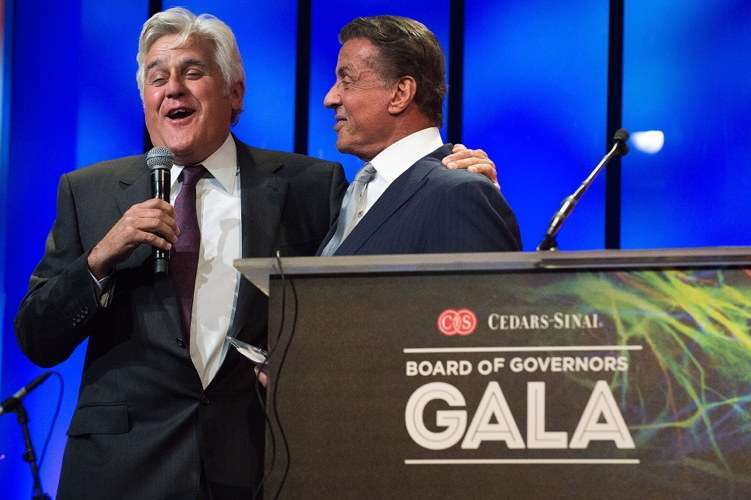 Jay Leno and Sylvester Stallone