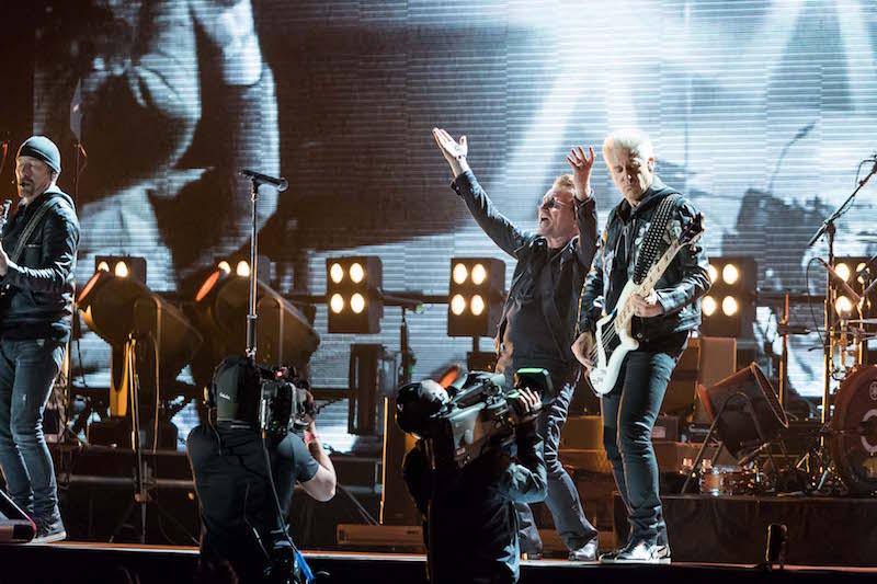 U2 on stage at Dreamforce