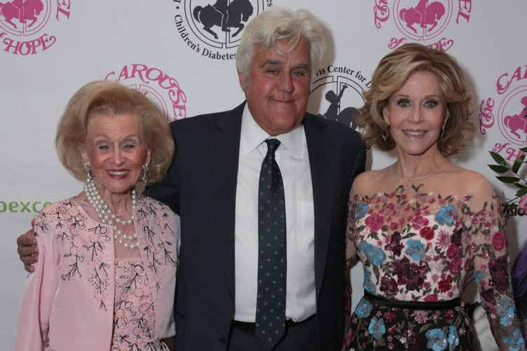 Barbara Davis, Jay Leno and Jane Fonda