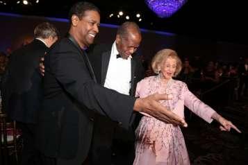 Denzel Washington, Sidney Poitier, Barbara Davis