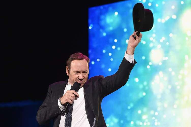 Kevin Spacey performs onstage