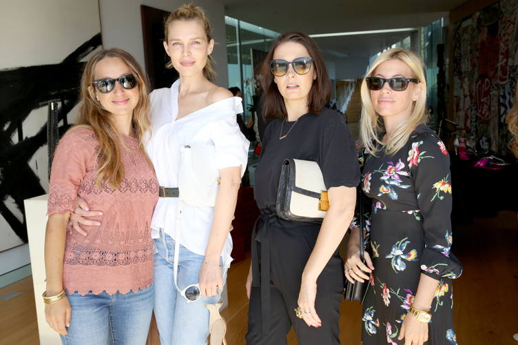 Jewelry designer Jennifer Meyer, actress Sara Foster, Cassandra Grey and Stephanie Steinman