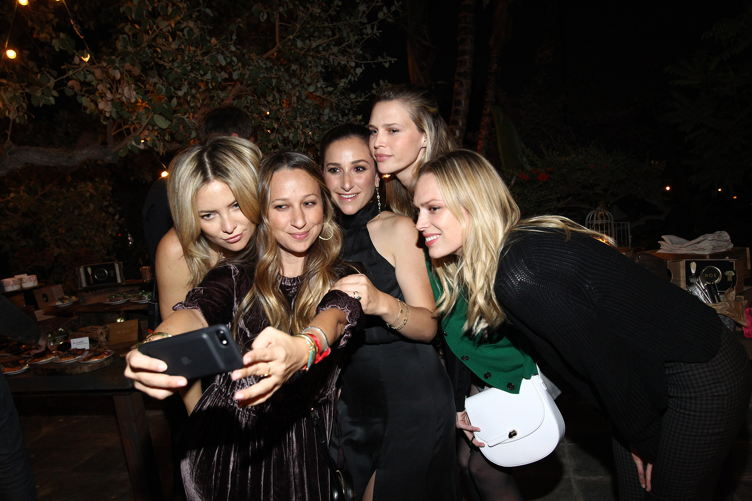 Actress Kate Hudson, designer Jennifer Meyer, actress Sara Foster, Sarah Meyer and writer Erin Foster