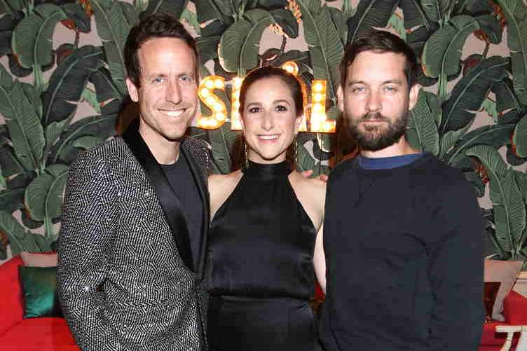Aaron Michealson, Sarah Meyer and actor Tobey Maguire