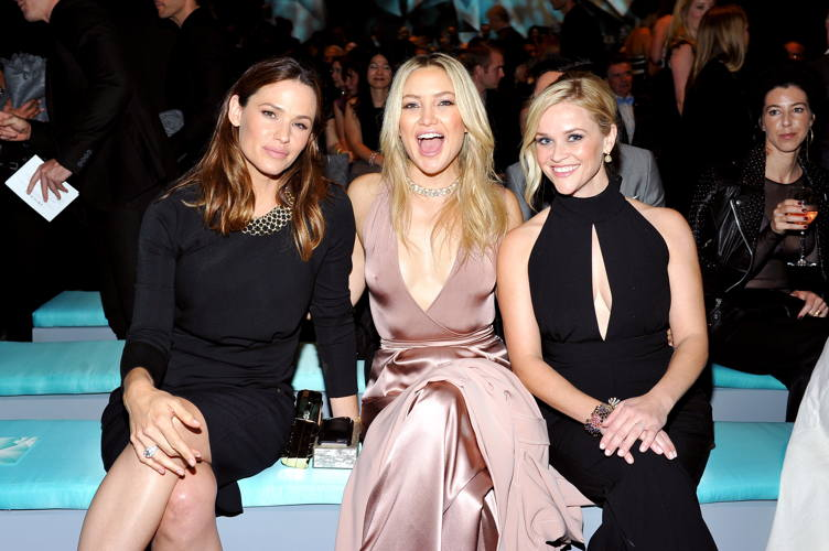 (L-R) Jennifer Garner, Kate Hudson and Reese Witherspoon attend Tiffany & Co.'s unveiling of the newly renovated Beverly Hills store and debut of 2016 Tiffany masterpieces