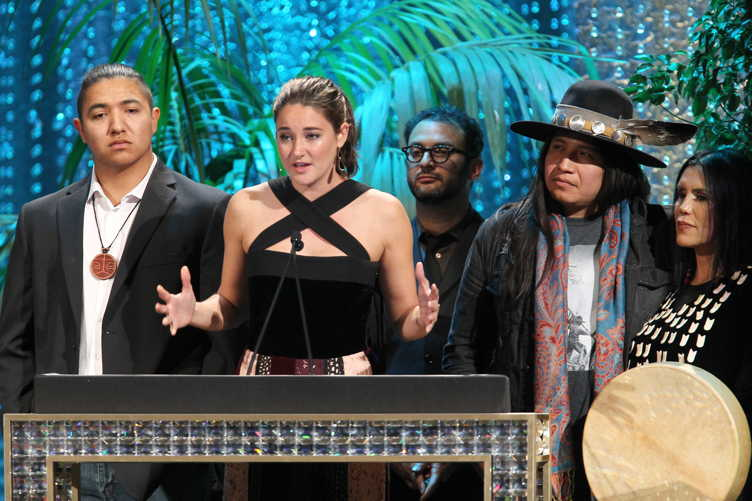 Honoree Shailene Woodley accepts the Female EMA Futures Award onstage