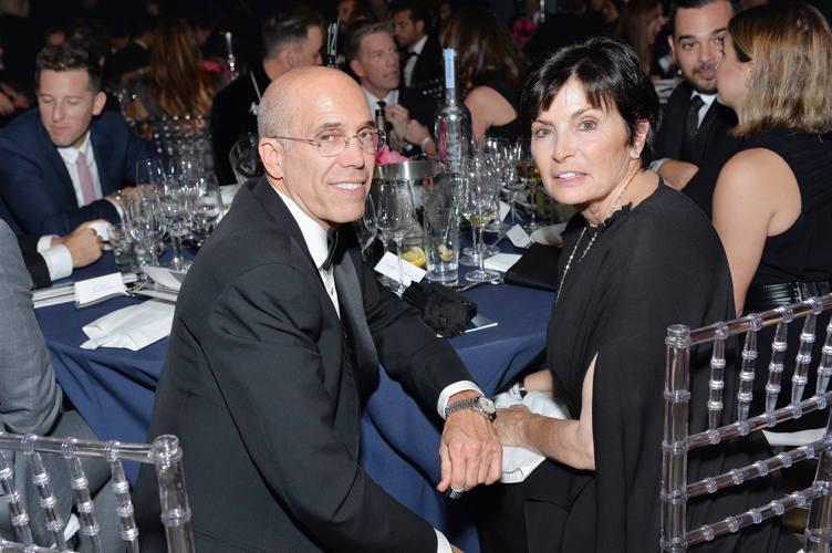 Honoree Jeffrey Katzenberg (L) and Marilyn Katzenberg attend amfAR's Inspiration Gala Los Angeles