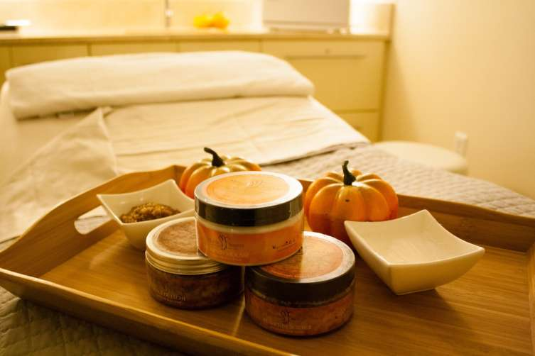 Conrad Miami -- Fall Spa Products on Bed