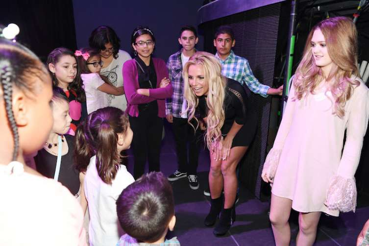 Britney Spears and Nevada Childhood Cancer Foundation.
