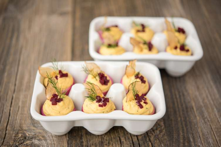 Drunken Deviled Eggs