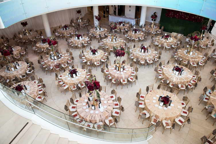 An aerial view of the luncheon