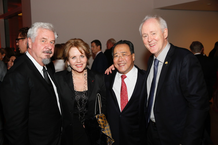 Photographer Jack Shear, RenŽe Fleming, Yo-Yo Ma and actor John Lithgow