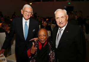 Eli Broad, Quincy Jones and Frank Gehry