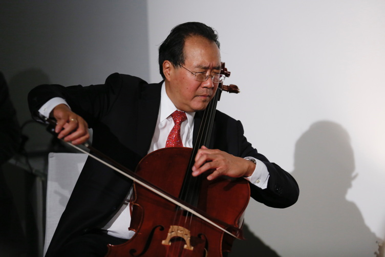 Yo-Yo Ma performs during The J. Paul Getty Medal Dinner